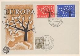 CM37  Grèce - Carte Maximum Avec Timbres Europa 1962 En Liaison Avec Le Conseil De L'Europe  TTB - Idées Européennes