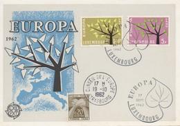 CM41  Luxembourg - Carte Maximum Avec Timbres Europa 1962 En Liaison Avec Le Conseil De L'Europe  TTB - Idées Européennes