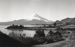 LAGO LLANQUIHUE CON VOLCAN OSORNO- VIAGGIATA 1963-REAL PHOTO - Cile