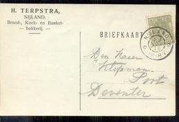 Nijland - H Terpstra - Brood Banket Bakkerij - 1916 - Lettres & Documents