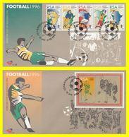 Afrique Du Sud (Football) JOHANNESBURG 1996 - 2 Enveloppes - Coupe D'Afrique Des Nations (Lot COM 9) - Africa Cup Of Nations