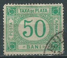 Timbre Roumanie Taxe 50b Vert Foncé 1908 - Portomarken