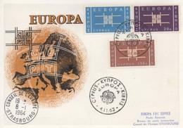 CM47  Chypre - Carte Maximum Avec Timbres Europa 1963 En Liaison Avec Le Conseil De L'Europe  TTB - Idées Européennes