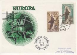 CM48  Espagne - Carte Maximum Avec Timbres Europa 1963 En Liaison Avec Le Conseil De L'Europe  TTB - Idées Européennes