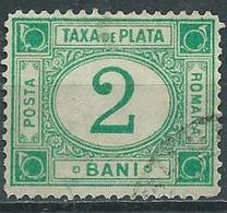 Timbre Roumanie Taxe 2b Vert 1908 - Portomarken