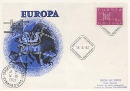 CM49  Finlande - Carte Maximum Avec Timbres Europa 1963 En Liaison Avec Le Conseil De L'Europe  TTB - Idées Européennes