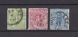 Wuerttemberg - 1869/73 - Michel Nr. 36, 38/39 - 30 Euro - Wuerttemberg