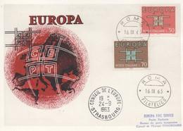 CM53  Italie - Carte Maximum Avec Timbres Europa 1963 En Liaison Avec Le Conseil De L'Europe  TTB - Idées Européennes