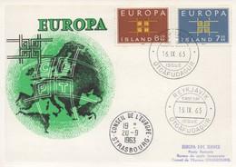 CM54  Islande - Carte Maximum Avec Timbres Europa 1963 En Liaison Avec Le Conseil De L'Europe  TTB - Idées Européennes