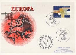 CM55  Liechtenstein - Carte Maximum Avec Timbres Europa 1963 En Liaison Avec Le Conseil De L'Europe  TTB - Idées Européennes