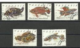 Tanzania - 1991 Fishes  CTO    SG 1138-42  Sc 818-22 - Tanzania (1964-...)