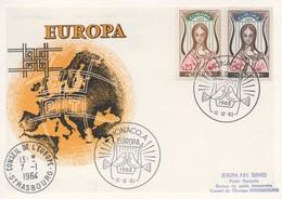 CM57  Monaco - Carte Maximum Avec Timbres Europa 1963 En Liaison Avec Le Conseil De L'Europe  TTB - Idées Européennes