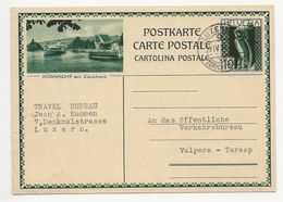 """Schweiz Suisse 1931: Bild-PK / CPI """"KÜSNACHT Am Zürichsee"""" (mit Schiff) Mit O LUZERN 29.IV.31 Nach Vulpera-Tarasp - Entiers Postaux"""