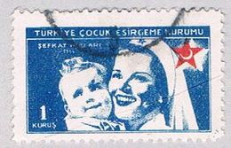 Turkey RA163 Used Nurse And Baby 1954 (BP27121) - Unclassified