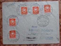 REGNO - Stampe Affrancata Con 5 Pezzi Da 2 Cent. Con Annullo Arrivo + Spese Postali - Storia Postale