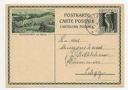 """Schweiz Suisse 1931: Bild-PK / CPI """"DEGERSHEIM Mit Säntis""""  Mit O SCHÖTZ 18.I.31 (LUZERN) Nach Immensee - Entiers Postaux"""