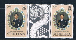 St Helena 354 MNH Gutter Pair Royal Wedding 1981 (S0946) - St. Helena