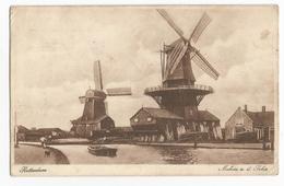 Rotterdam Molens A. D. Schie Briefkaart PK Moulin à Vent Windmolen - Rotterdam