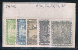 Chile C30- Unused Partial Set Scott Nums Shown 1934 (C0167) - Chile