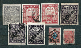 Rusia, 1921-1923; Lot Of 8 Used Stamps, MiNr 156, 161, 180, 190, 205, 215; See Details On Description - 1917-1923 Republiek & Sovjetrepubliek