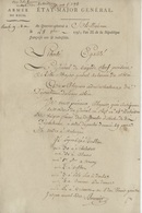Armée Du Rhin Etat-Major Schiltigheim 1793  Le Général Se Rendra à Besançon, Berstheim, Sélestat, Colmar, Cernay, ...... - Documentos Históricos