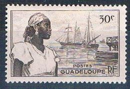 Guadeloupe 190 MLH Woman And Harbor 1947 (G0339)+ - Unclassified