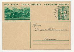 """Schweiz Suisse 1934: Bild-PK / CPI """"AESCHI Ob SPIEZ"""" Mit O GOSSAU 24.IX.34 (Pfadfinder-Abteilung Gossau) - Entiers Postaux"""