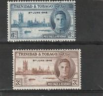 Trinité Neuf *  1946  N° 149/150  Anniversaire De La Victoire - Trinidad & Tobago (1962-...)