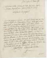 """Franchise Pfetterhouse 1847 """"dénonciation Contre Le Maire"""" - Documentos Históricos"""
