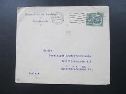 Guatemala Brief Des Colsulado De Austria En Guatemala Österreichisches Konsulat Nach Wien Kaffee Stempel Rückseitig - Guatemala
