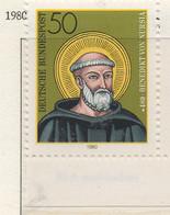 PIA - GERMANIA  - 1980 : 15° Centenario Della Nascita Di San Benedetto  - (Yv 901) - Cristianesimo
