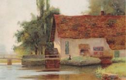 AM35 Art Postcard - Unidentified Water Mill - UB - Water Mills