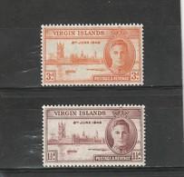 Îles Vierges Britanniques Neuf *  1946  N° 86/87  Anniversaire Dela Victoire - Iles Vièrges Britanniques