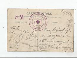 TOULOUSE (31) GUERRE 14 18 CACHET MILITAIRE DE L'HOPITAL AUXILIAIRE N°15 (ECOLE DE COMMERCE) 1914 - Storia Postale
