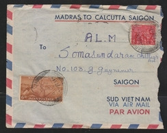 India  1956  Mosquito Stamp On Mailed Cover To Saigon Vietnam  # 18123 D  Inde Indien - 1950-59 Republic