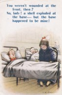 AM36 Bamforth Comic By D. Tempest - WW1, Injured Soldier In Hospital - Humour