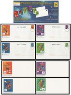 FRANCE 1998 (Coupe Du Monde De Football) 4 Enveloppes + 4 Cartes (spécimen) (Lot COM 10) - Postwaardestukken