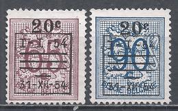 Belgium 1954.  Scott #477-8 (M) Lion Rampant ** Complet Set - Typo Precancels 1951-80 (Figure On Lion)