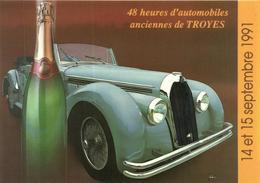AUTOMOBILE : 48 HEURES D'AUTOMOBILES ANCIENNES DE TROYES   ANNEE 1991 - Cartes Postales