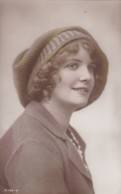 AR40 Glamour - Handpainted RPPC Of A British Beauty (looking Right) - Women