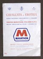 Motociclismo - Cavalcata Di Enotria - Trofeo Marathon Italiana Regolamento 1967 - Altri