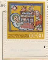 PIA - GERMANIA  - 1980 : Natale - Miniatura Da Un Manoscritto Del XII° Secolo Di Altomunster - (Yv 912) - Cristianesimo