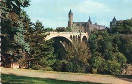 LUXEMBOURG-PONT ADOLPHE ET CAISSE D EPARGNE- VIAGGIATA 1953 - Lussemburgo - Città