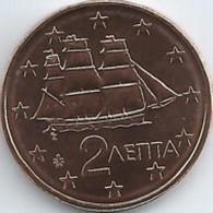 Griekenland    2019  2 Cent    UNC Uit De BU  UNC Du Coffret !! 10.000 Ex !!! Zeldzaam - Extrème Rare !!! - Grèce