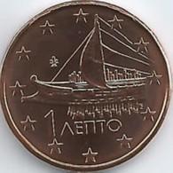 Griekenland    2019  1 Cent    UNC Uit De BU  UNC Du Coffret !! 10.000 Ex !!! Zeldzaam - Extrème Rare !!! - Grèce