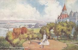 OTTAWA , Ontario , Canada , 1908 : TUCK 2578 ; Statue Of Queen Victoria & Library Of Parliament - Ottawa