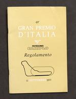 Sport - 48° Gran Premio D'Italia Di Formula 1 Autodromo Monza 1977 - Regolamento - Altri