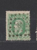 COB 30 Oblitération à Points 61 IXELLES +1 - 1869-1883 Leopold II.