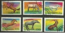 Tanzania - 1993 Horses  CTO    SG 1711-6  Sc 1153-8 - Tanzania (1964-...)
