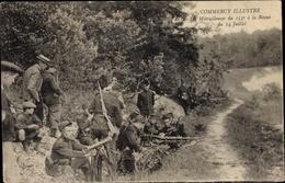 Cp Commercy Lothringen Meuse, Les Mitrailleuses Du 155e A La Revue Du 14 Juillet - Autres Communes